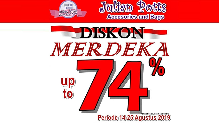 Julian Potts Diskon Merdeka