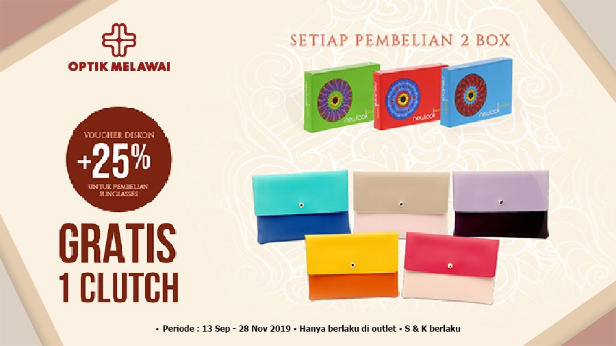 Optik Melawai Gratis Clutch